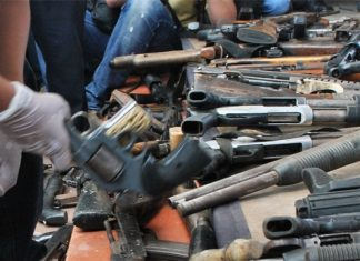 El Salvador gangs surrendering weapons earlier this year