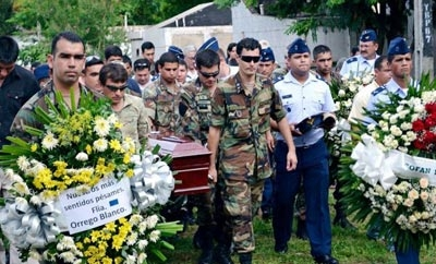 Funeral of first solider to be killed by EPP guerrillas