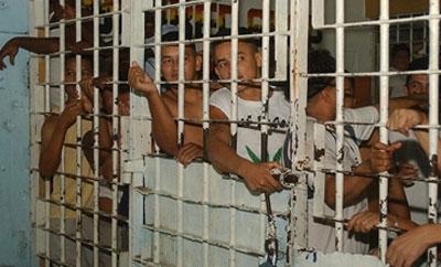 Prisoners in a jail, Guayaquil, Ecuador