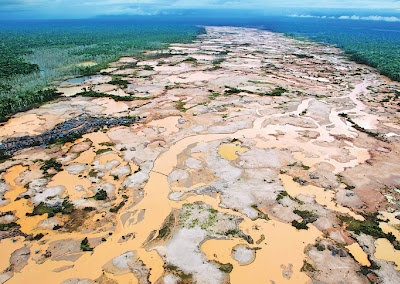 Illegal gold mining has devastated the Madre de Dios region