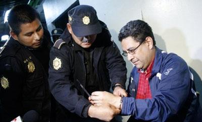 Rodolfo Lazaro Padilla in police custody