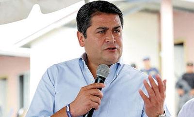 Honduras' incoming President Juan Orlando Hernandez