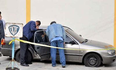 Venezuelan police inspect Monica Spear's car