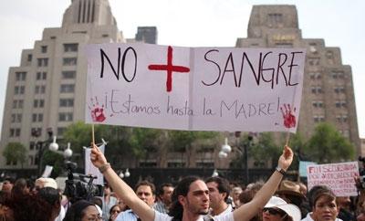 """""""No more blood"""": Mexicans protest drug war violence"""