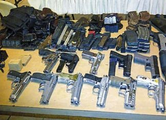 Some of the weapons recovered in La Mosquitia operation