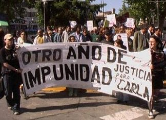 Anti-impunity campaigners in Mexico