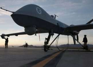 A Predator B drone in Sierra Vista, Arizona