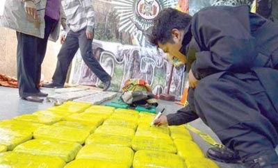 Cocaine seized in Bolivia last week