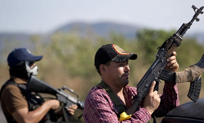 Vigilantes in Apatzingan, Michoacan