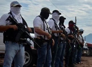 Vigilantes stand guard in Michoacan