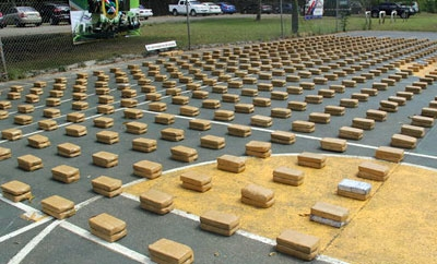 Panama authorities seized one ton of cocaine