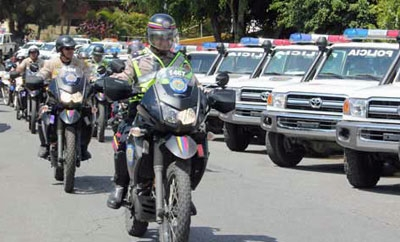 Venezuela's national police in Caracas