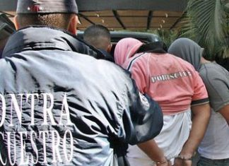 Venezuela's  anti-kidnapping police haul away suspects