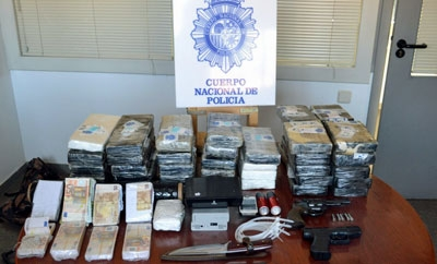 Recovered goods from the police raids