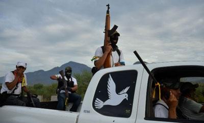 Vigilantes in Morelos, Michoacan