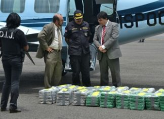 Cocaine seized in Costa Rica in 2013