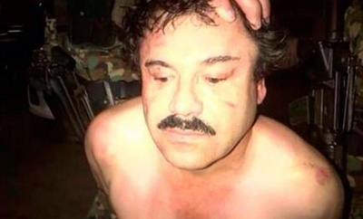 Joaquin 'Chapo' Guzman following his capture