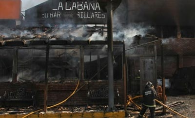 Mexico bar burned in suspected extortion-related attack