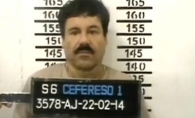 'El Chapo' Guzman following his arrest