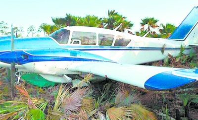 The plane discovered in La Mosquitia