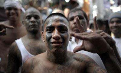 Members of the Barrio 18 gang in El Salvador