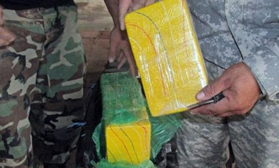 Some of the 292 kilos of cocaine seized