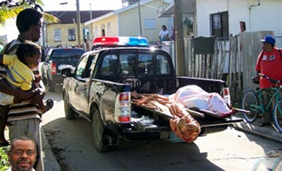 Murder victims in south Belize City in 2012