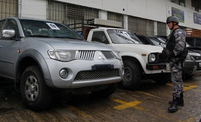 Stolen cars recovered by Ecuador's police