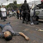 A murder scene in Tegucigalpa, Honduras