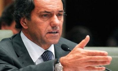 Buenos Aires Governor Daniel Scioli