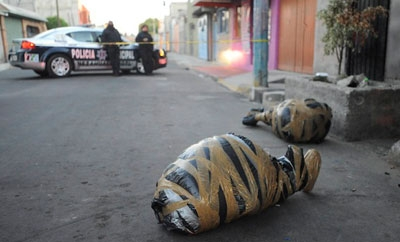 Bodies of Mexico murder victims in February 2014