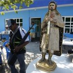 """Statue dedicated to Knights Templar leader """"El Chayo"""""""