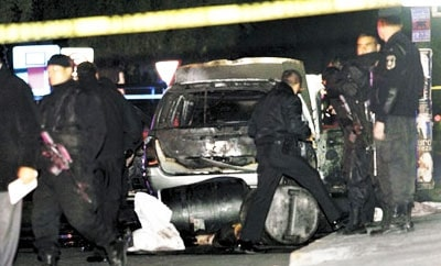 Murder scene in Metepec, Estado de Mexico