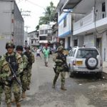Security forces in Buenaventura: Photo James Bargent