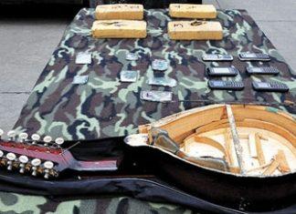 The mandolin where cocaine was hidden