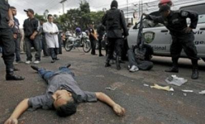 A homicide victim in Honduras in 2012