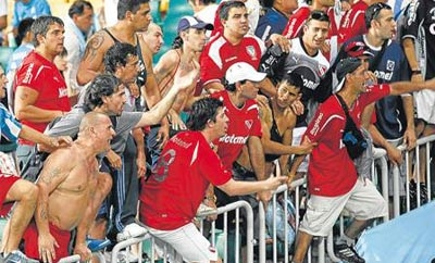 Independiente fans have been implicated in drug sales