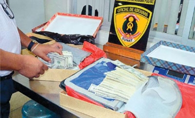 The Africa-bound fake money seized in Lima