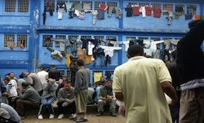An overcrowded prison in Bogota