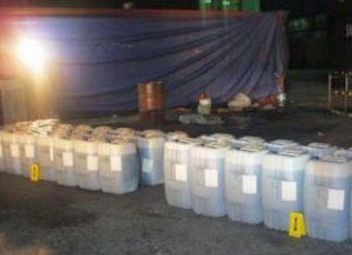 Liquid cocaine recovered in Progreso