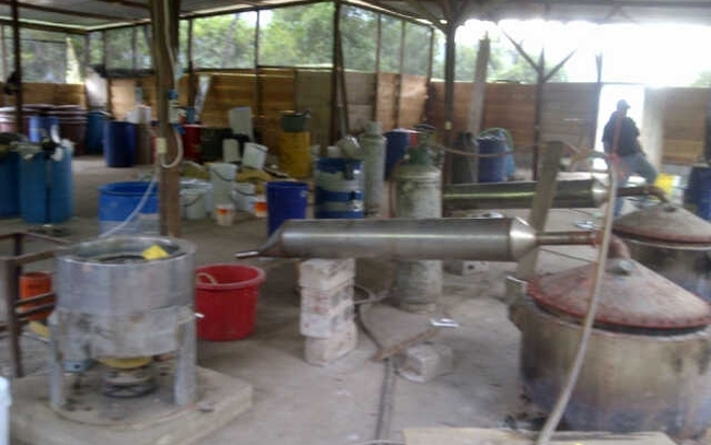 The Guatemala meth lab