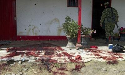 The site of a 2012 massacre in Antioquia
