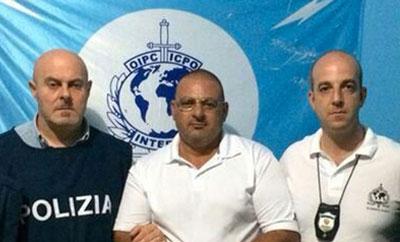 Captured 'Nrangheta mafioso Nicola Pignatelli (center)