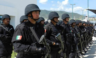 Police officers in Tamaulipas