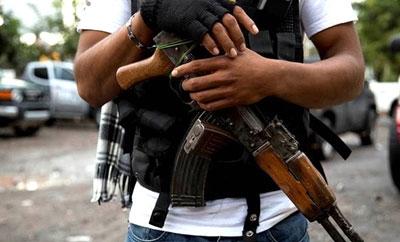 A vigilante in La Huacana