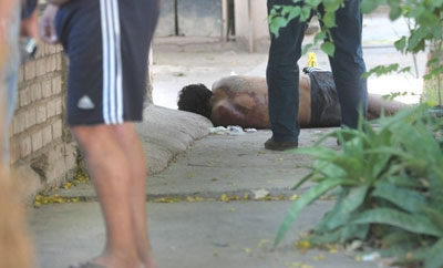 A murder scene in the Mendoza province