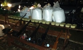 Cocaine seized during the June 13 raid