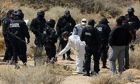 A crime scene in northern Mexico