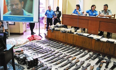 Arms seized in Nicaragua (2009)