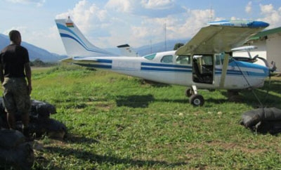A Bolivian drug plane seized in Peru